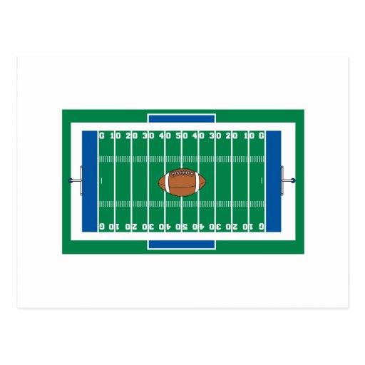 gráfico del campo de fútbol del hierro de la rejil tarjetas postales