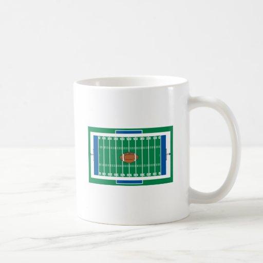 gráfico del campo de fútbol del hierro de la rejil taza básica blanca