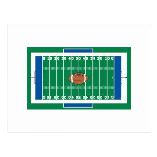 gráfico del campo de fútbol del hierro de la tarjeta postal