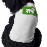 Gráfico del caniche (verde) ropa de perro