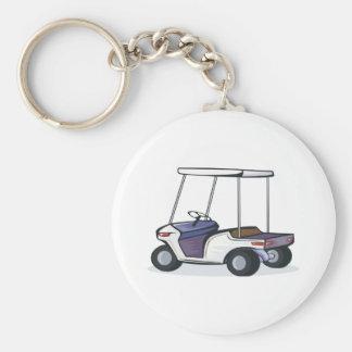 gráfico del carro de golf llavero redondo tipo pin