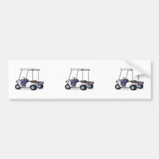 gráfico del carro de golf pegatina para auto