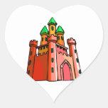 Gráfico del castillo de la perspectiva pegatina de corazón