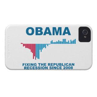 Gráfico del crecimiento de empleo de Obama iPhone 4 Case-Mate Protector