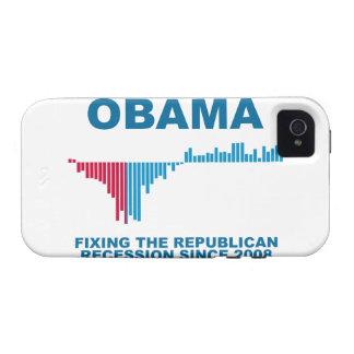 Gráfico del crecimiento de empleo de Obama Case-Mate iPhone 4 Carcasas