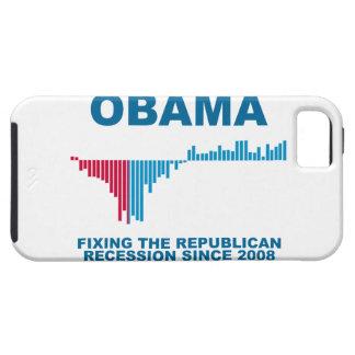 Gráfico del crecimiento de empleo de Obama Funda Para iPhone 5 Tough