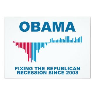 Gráfico del crecimiento de empleo de Obama Comunicados Personales