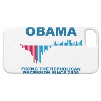 Gráfico del crecimiento de empleo de Obama iPhone 5 Carcasa