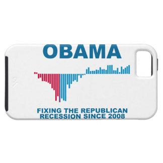 Gráfico del crecimiento de empleo de Obama iPhone 5 Fundas
