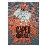 Gráfico del cruzado de Caped Felicitación
