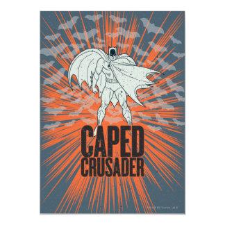 """Gráfico del cruzado de Caped Invitación 5"""" X 7"""""""