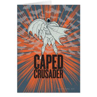 Gráfico del cruzado de Caped Tarjeta De Felicitación