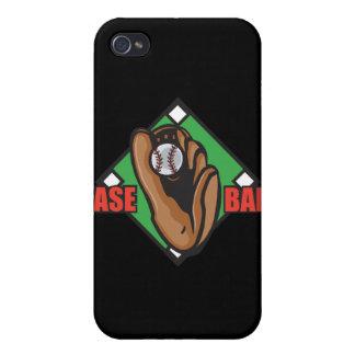 gráfico del diamante de béisbol iPhone 4 carcasas