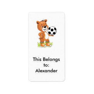 gráfico del dibujo animado del oso de peluche del etiquetas de dirección