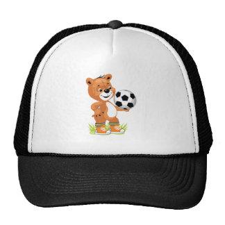gráfico del dibujo animado del oso de peluche del  gorras