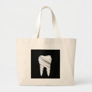 Gráfico del diente para el dentista bolsa tela grande
