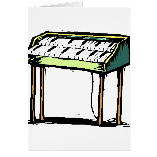 Gráfico del diseño del piano del órgano eléctrico  tarjetas