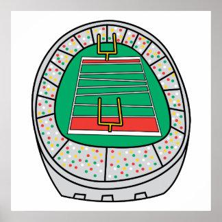gráfico del estadio de fútbol poster