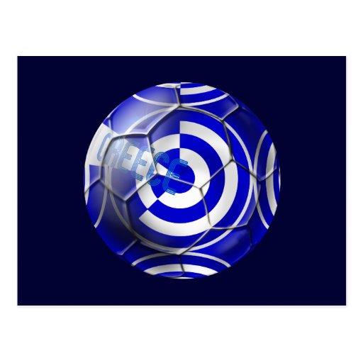 Gráfico del fútbol de Grecia Tarjetas Postales