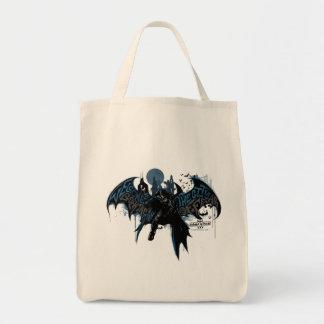 Gráfico del goteo de la pintura de Batman Gotham Bolsa Tela Para La Compra