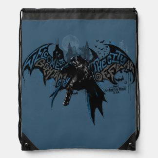 Gráfico del goteo de la pintura de Batman Gotham Mochilas