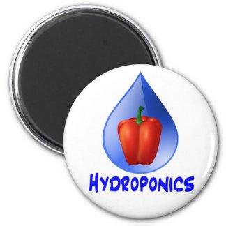 Gráfico del hidrocultivo, pimienta hidropónica y d imán redondo 5 cm