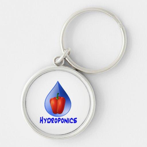Gráfico del hidrocultivo, pimienta hidropónica y d llavero personalizado