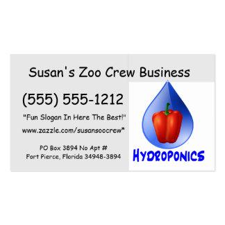 Gráfico del hidrocultivo pimienta hidropónica y d tarjetas de visita