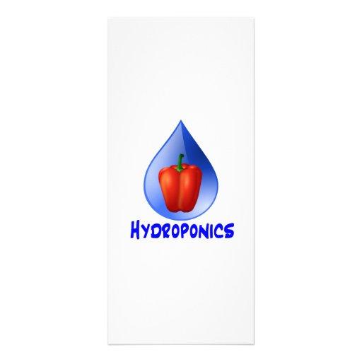 Gráfico del hidrocultivo, pimienta hidropónica y d lona publicitaria
