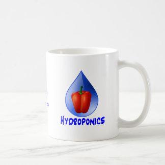 Gráfico del hidrocultivo pimienta hidropónica y d tazas