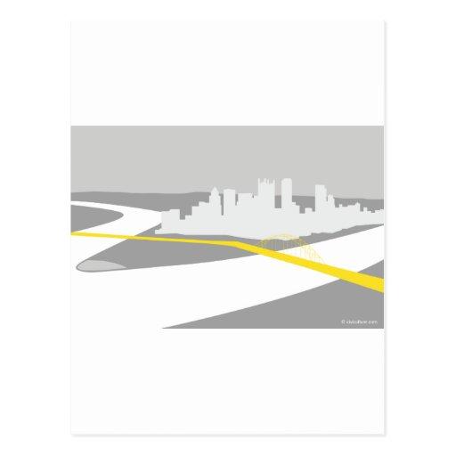 Gráfico del horizonte de Pittsburgh Postales
