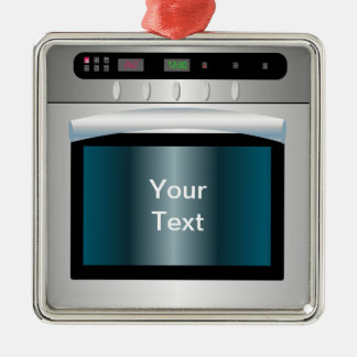 Gráfico del horno con el texto personalizado adornos