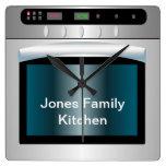 Gráfico del horno con el texto personalizado relojes