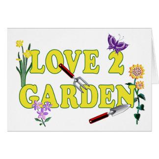 Gráfico del jardín del amor 2 tarjeta de felicitación
