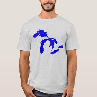 Gráfico del logotipo de Great Lakes de los hombres Playera