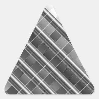 Gráfico del metal plateado del alto grado pegatina triangular