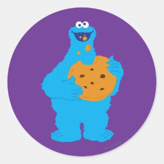 Gráfico del monstruo de la galleta pegatina redonda