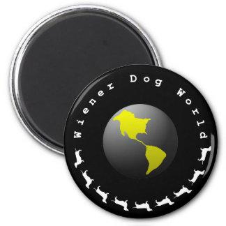 Gráfico del mundo del perro de la salchicha de Fra Imán Redondo 5 Cm
