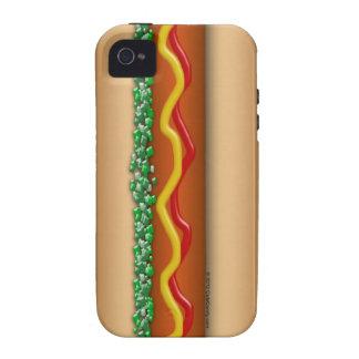 Gráfico del perrito caliente de la novedad iPhone 4 carcasa