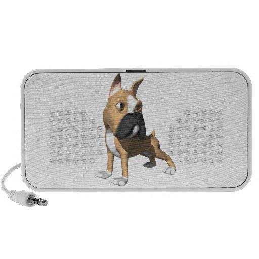 gráfico del perro del boxeador 3d laptop altavoz