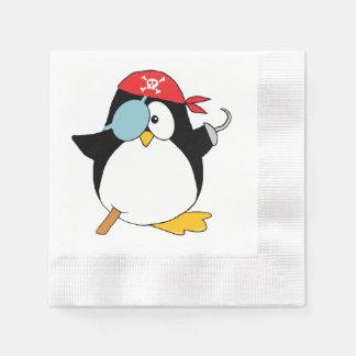 Gráfico del pingüino del pirata servilleta desechable