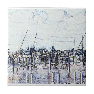 Gráfico del puerto deportivo de la Florida con los Azulejos Ceramicos