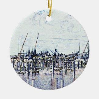 Gráfico del puerto deportivo de la Florida con los Ornamento Para Arbol De Navidad