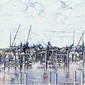 Gráfico del puerto deportivo de la Florida con los Escultura Fotográfica