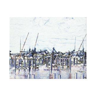 Gráfico del puerto deportivo de la Florida con los Lona Estirada Galerías