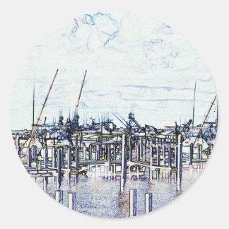 Gráfico del puerto deportivo de la Florida con los Etiqueta Redonda
