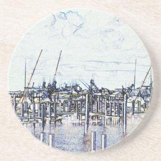 Gráfico del puerto deportivo de la Florida con los Posavasos Manualidades