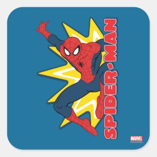 Gráfico del reclamo de Spider-Man Pegatina Cuadrada