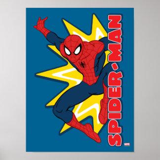 Gráfico del reclamo de Spider-Man Póster