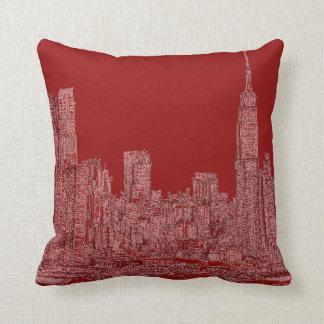 Gráfico del rojo de NYC Cojines
